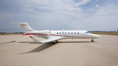 Verschil tussen een lijndienst en prive jet Learjet 60