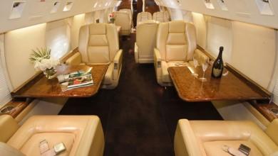 First Class Aviation Gulfstream IV interieur prive vliegtuig