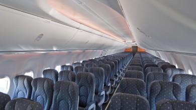 Interieur Boeing 737 airliner vliegtuig verhuur