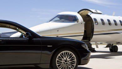 Chauffeur services private jets