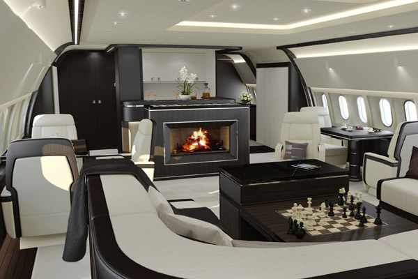 Eerste bbj 787 wordt in gebruik genomen first class aviation for Interieur jet prive