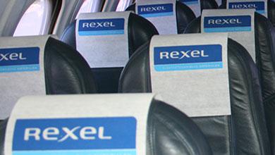Headrest covers met logo vliegtuig huren