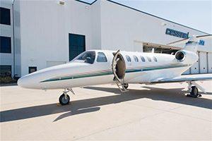 Citation CJ2 zakenreis met een privé jet