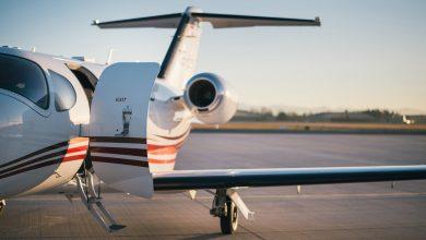 Zakenreis met een privé jet