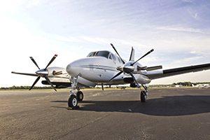 Prijzen privé vliegtuig huren King Air 90