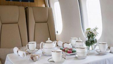 Eten in het vliegtuig bij First Class Aviation