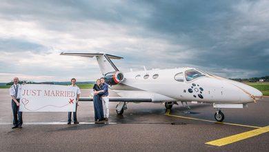 Privé vliegtuig huren als vervoer bruiloft buitenland